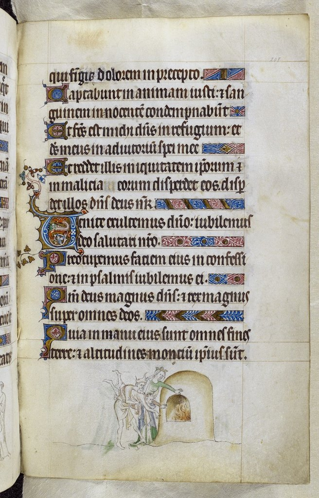 Burning oven from BL Royal 2 B VII, f. 208