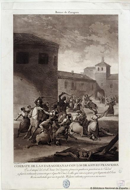 Combate de las Zaragozanas con los dragones franceses