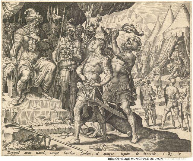 David est armé devant Saül