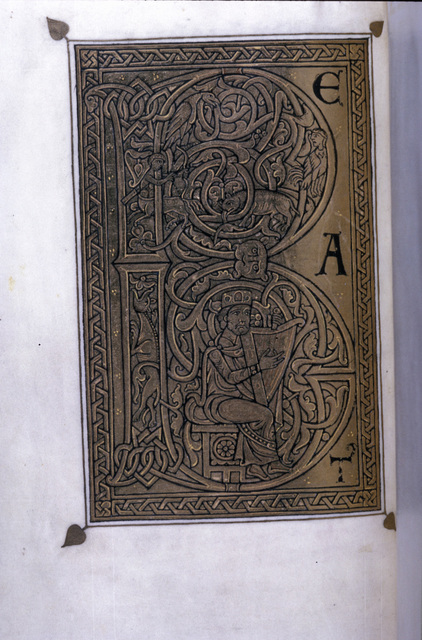David harping from BL Eg 1139, f. 23v