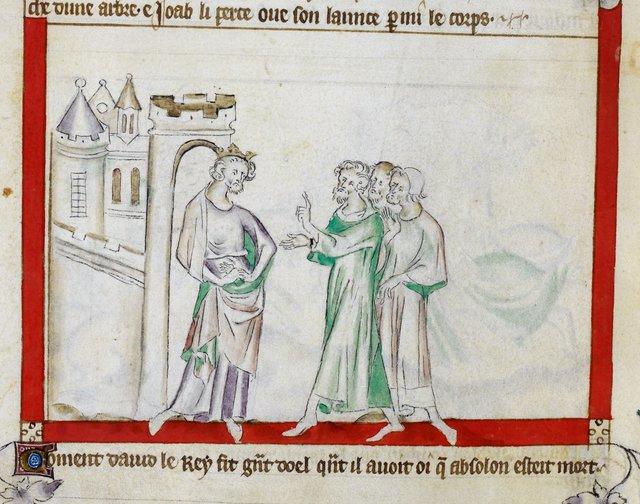 David lamenting from BL Royal 2 B VII, f. 60v