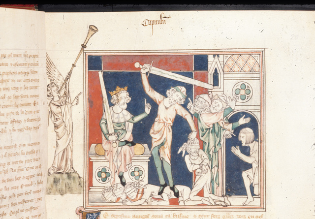 Death of the Witnesses from BL Royal 19 B XV, f. 20