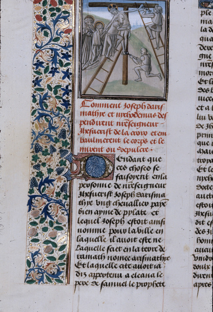 Descent from the Cross from BL Royal 15 D I, f. 358v