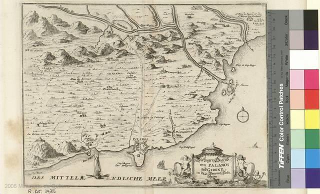 Die lager legend von Palamos und Girona in der provins data sonien [Material cartográfico]