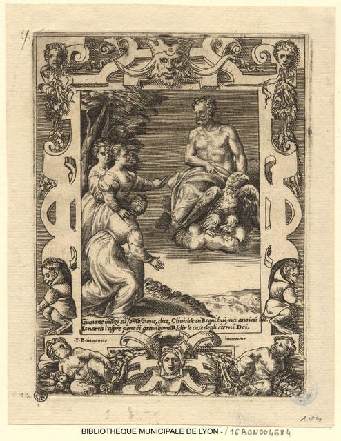 Junon implorant le secours de Jupiter pour les Grecs
