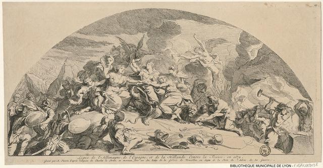 Ligue de l'Allemagne, de l'Espagne et de la Hollande contre la France en 1672