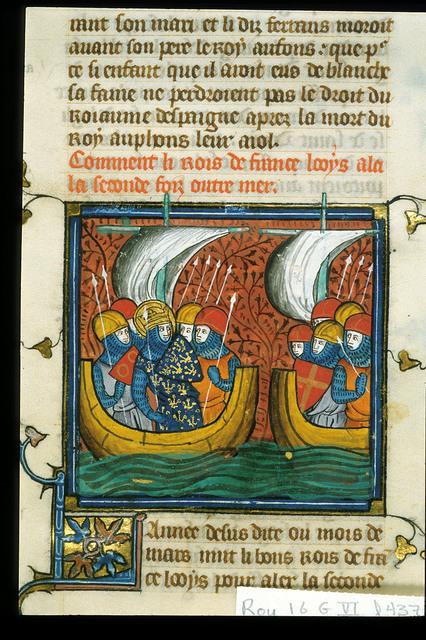 Louis IX from BL Royal 16 G VI, f. 437v
