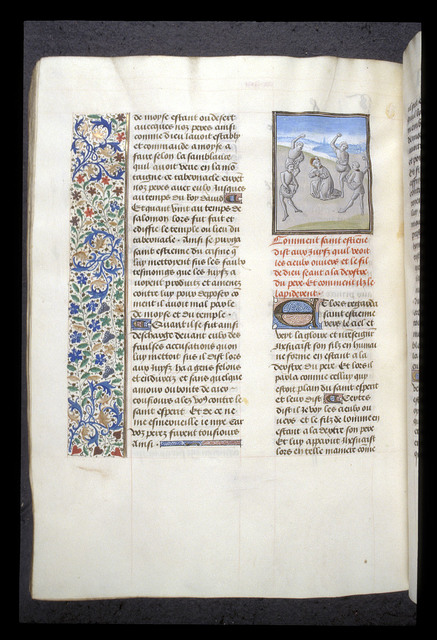 Martyrdom of Stephen from BL Royal 15 D I, f. 396v