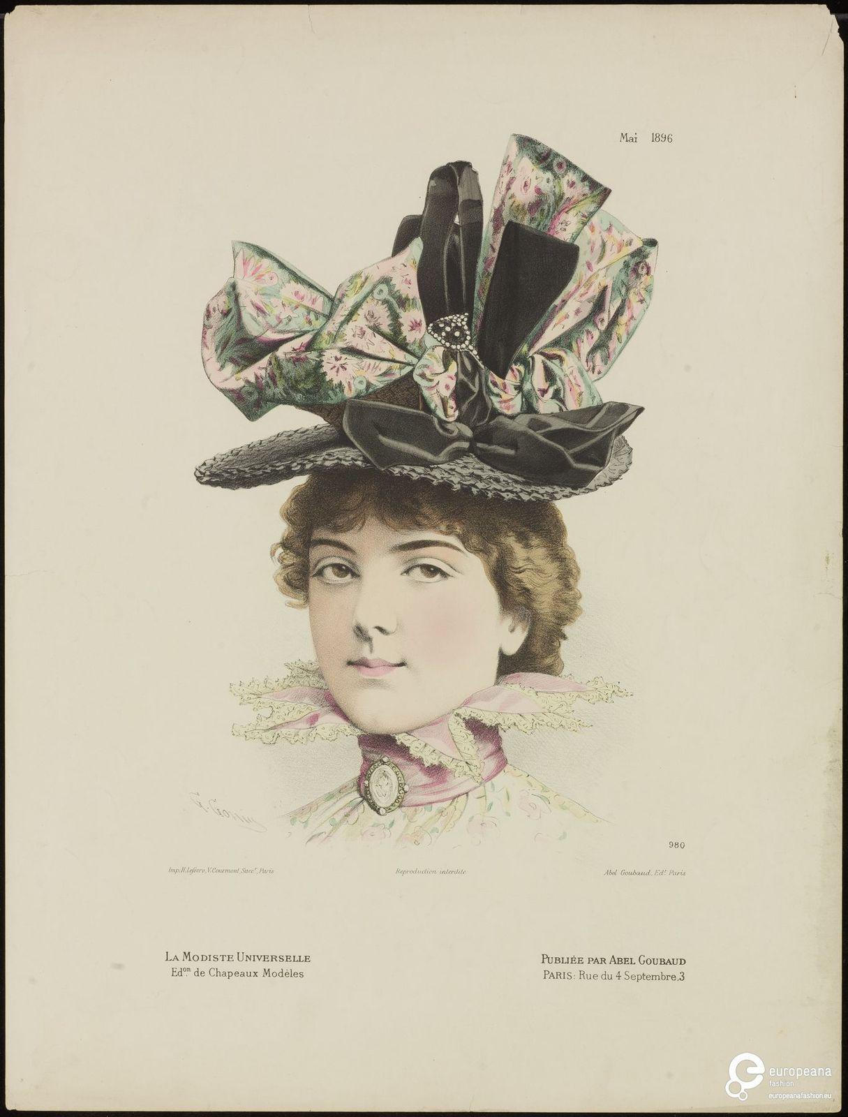 Modeprent (in kleur) uit 'La Modiste Universelle' 1896-05-01