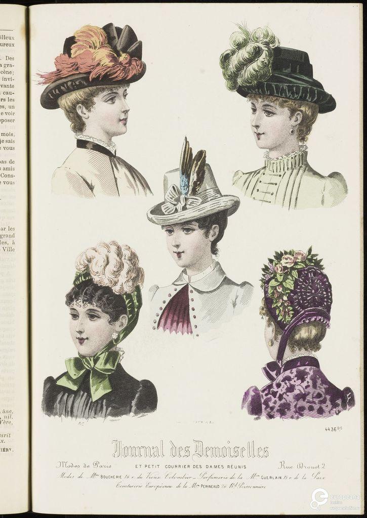 Modeprent uit 'Journal des demoiselles' 1883-08-01