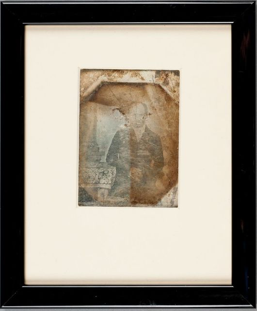Modern framing, the image is havily damaged.