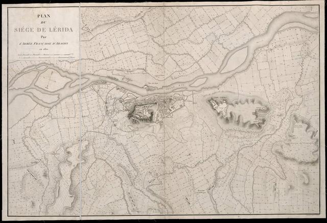 Plan du Siége de Lérida Par L'Armé Française d'Aragon en 1810 : Gravé par Ambroise Tardieu