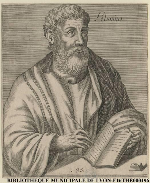 Portrait de Libanius, le sophiste