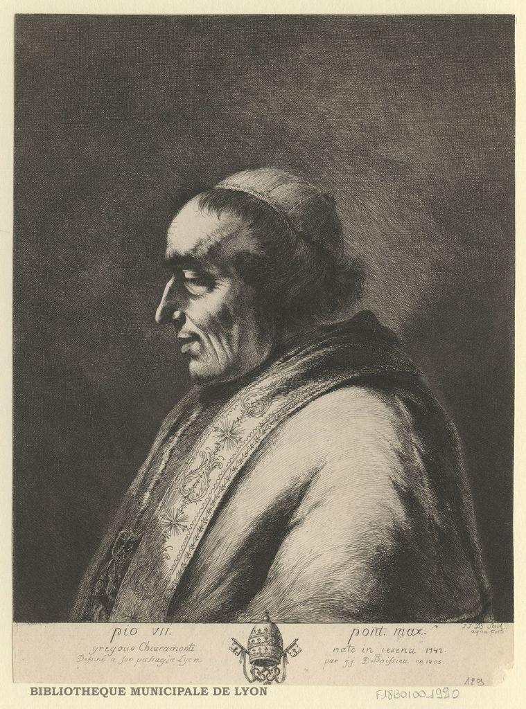 Portrait de Pie VII