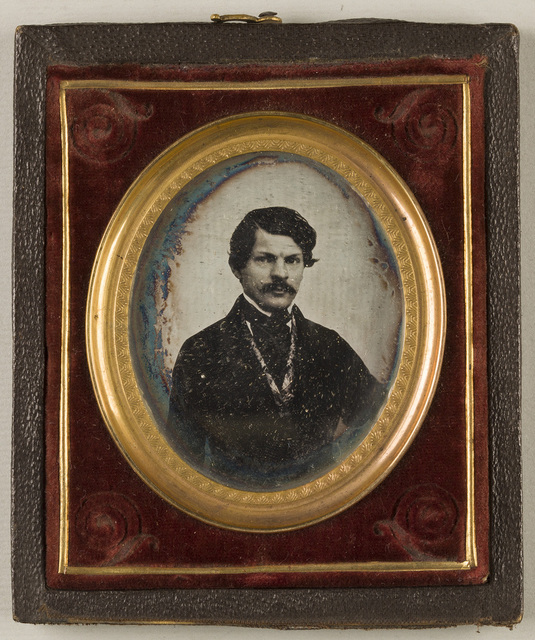 Portrait of a man with moustache