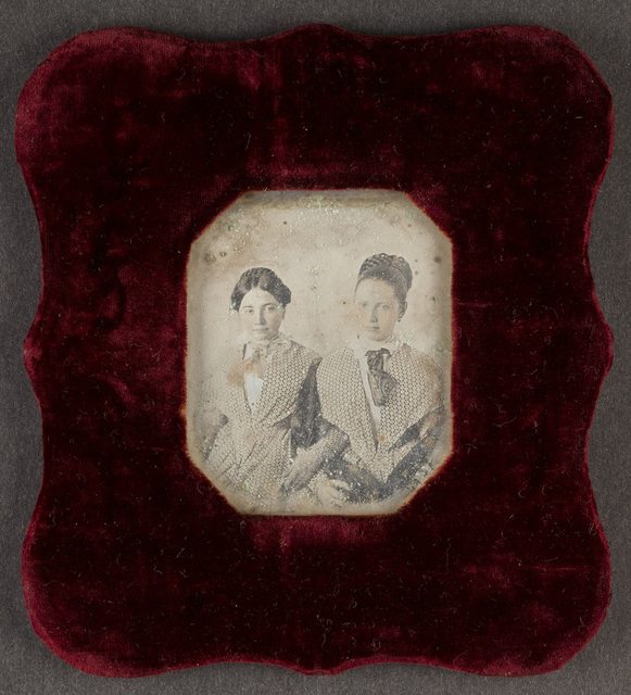 Portrait of twoo girls. Creator unknown, undated.