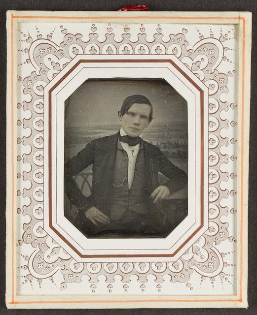 Portrait of unknown man. Creator unknown, undated.