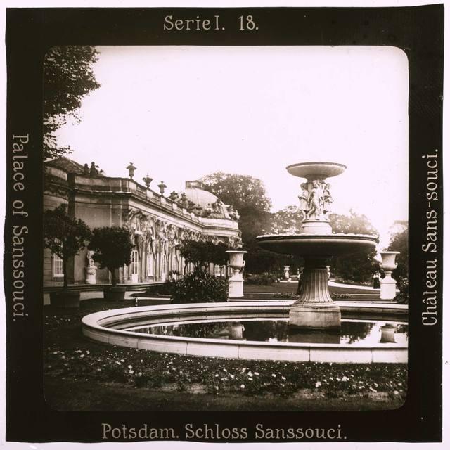 Potsdam. Schloss Sanssouci Projection für Alle