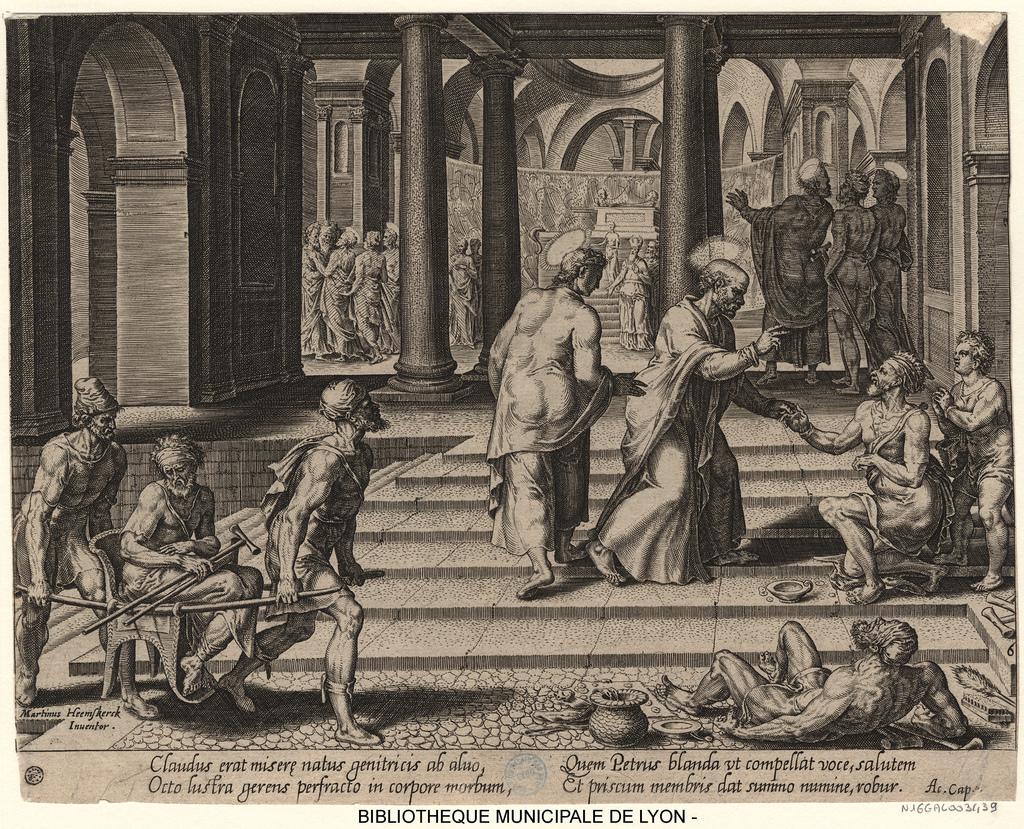 Saint Pierre guérit un estropié aux portes de la ville