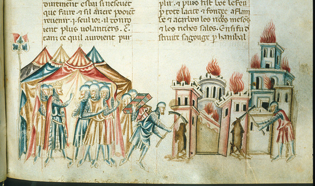 Taking of Saguntum from BL Royal 20 D I, f. 272