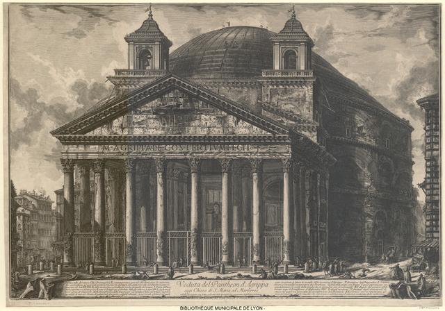Veduta del Pantheon d'Agrippa oggi Chiesa di S. Maria ad Martyres