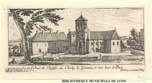Veuë de l'église de Clichy la Garenne a une lieuë de Paris