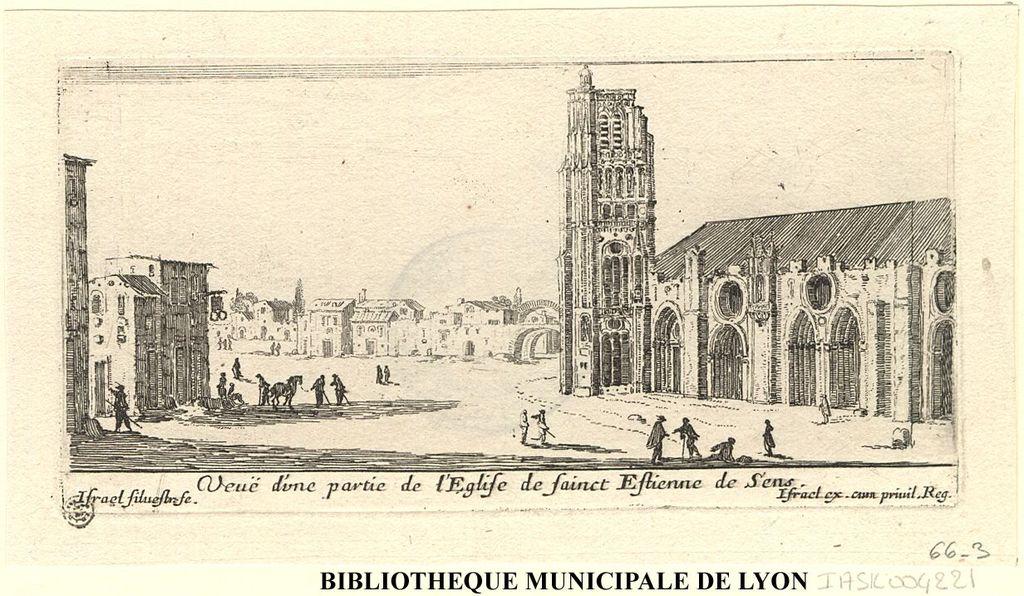 Veuë d'une partie de l'église de sainct Estienne de Sens