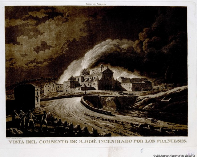 Vista del Combento [sic] de S. José Incendiado por los franceses