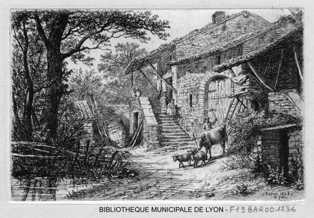 Vue du village de Nanc, près de Saint-Amour (Jura)