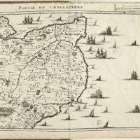 Kaart Van Zuidwest Engeland 1709 Picryl Public Domain Image